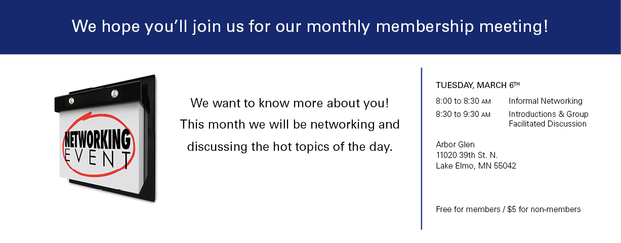 March Meeting-networking
