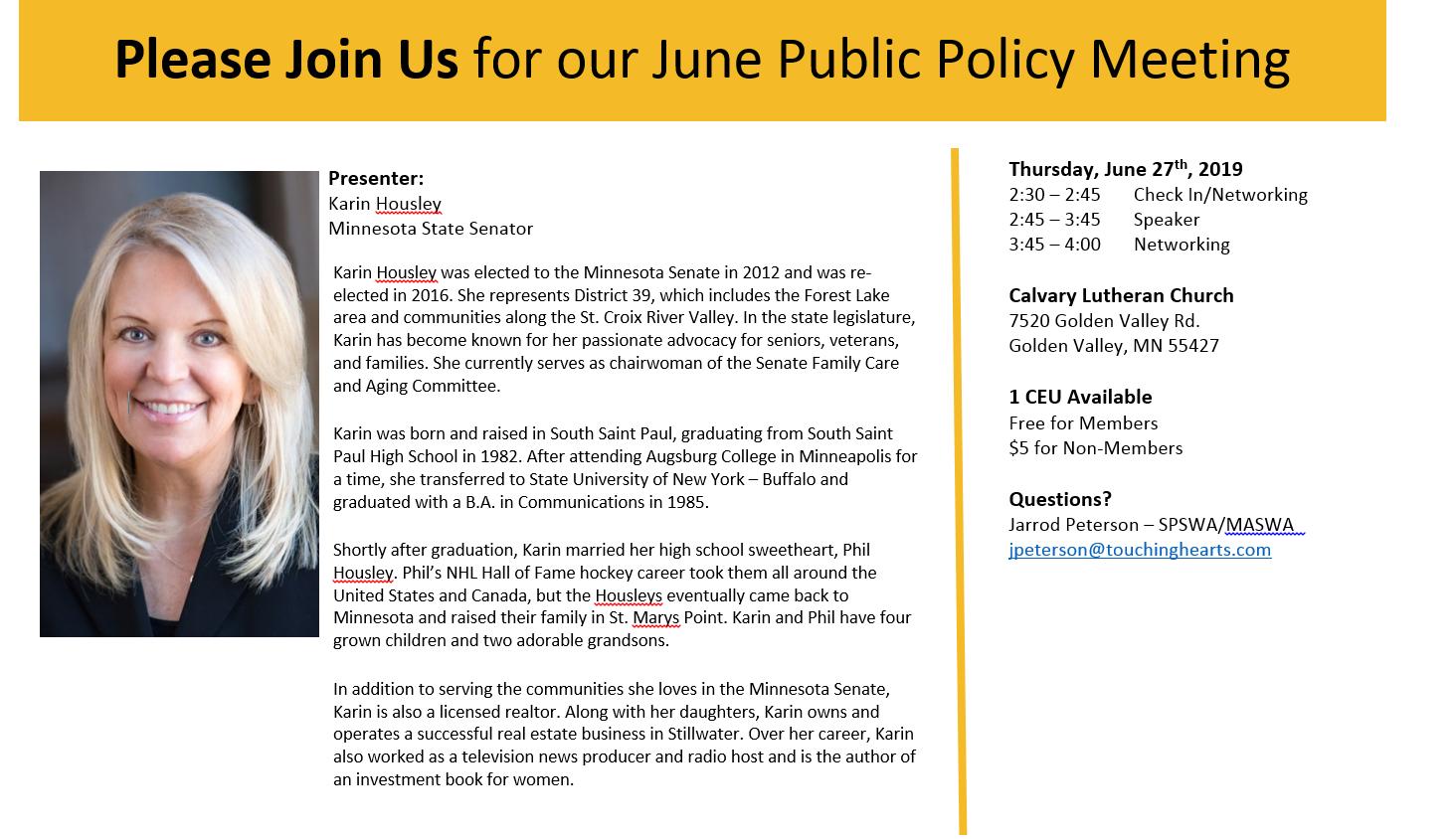 June Public Policy 2019